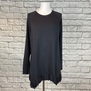 Lane Bryant Black Ruffle Hem Tunic